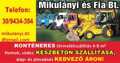 Betonrendelés Borsod-Abaúj-Zemplén megye - MIKULÁNYI és FIA Bt.